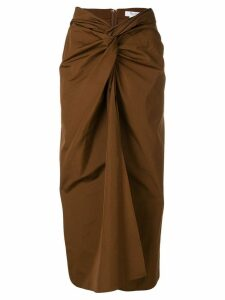 Max Mara knot front midi skirt - Brown