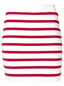 Balmain striped skirt - White