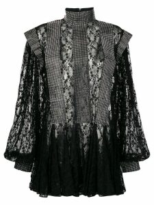 Christopher Kane crystal lace godet dress - Black