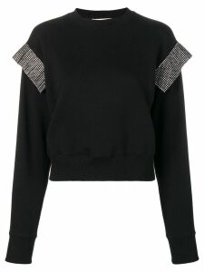 Christopher Kane crystal trim sweatshirt - Black