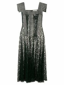 Christopher Kane crystal lace panelled dress - Black