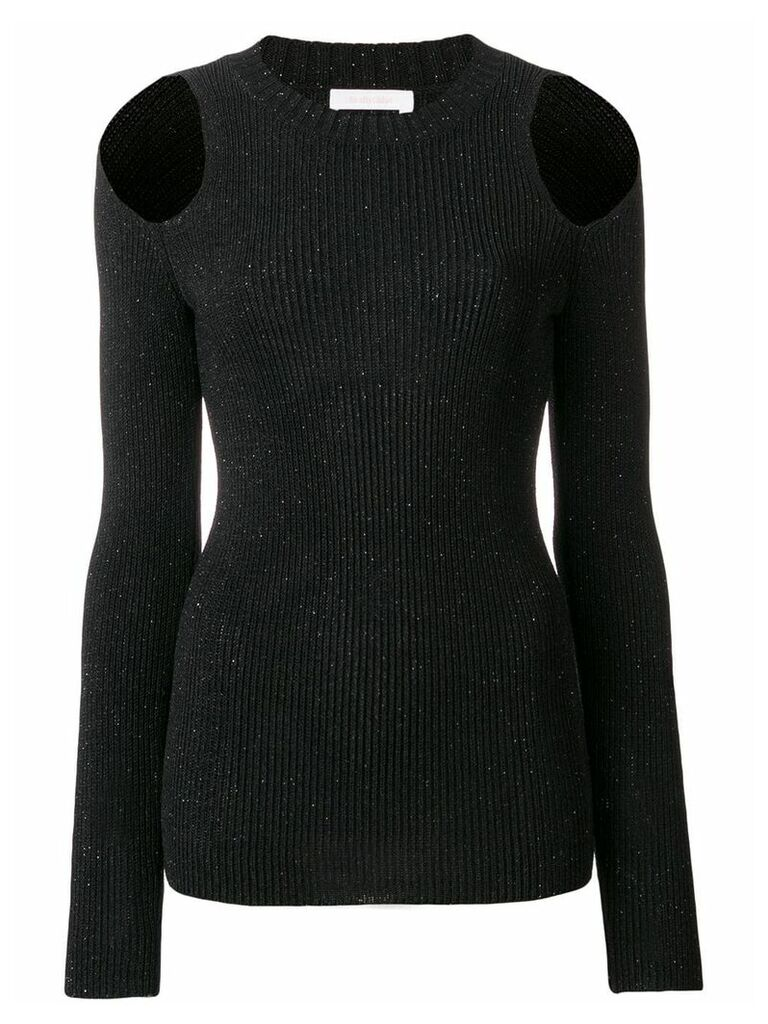 See By Chloé cold shoulder knitted top - Black