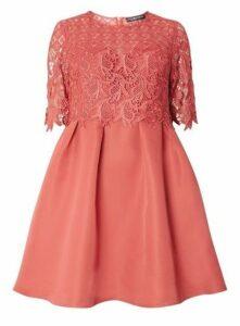 **Little Mistress Terracotta Prom Dress, Mid Brown