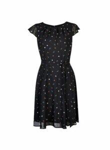 Womens **Billie & Blossom Tall Black Dragonfly Print Dress- Black, Black