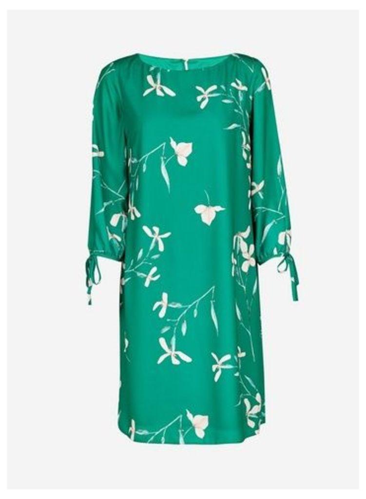 Womens **Lily & Franc Green Floral Printed Shift Dress- Green, Green