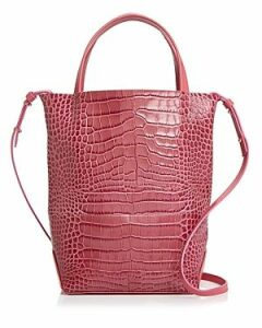 Alice.d Small Croc-Embossed Tote