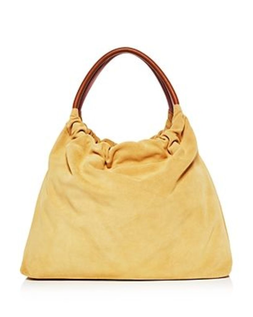 Little Liffner Medium Double Ring Suede Tote