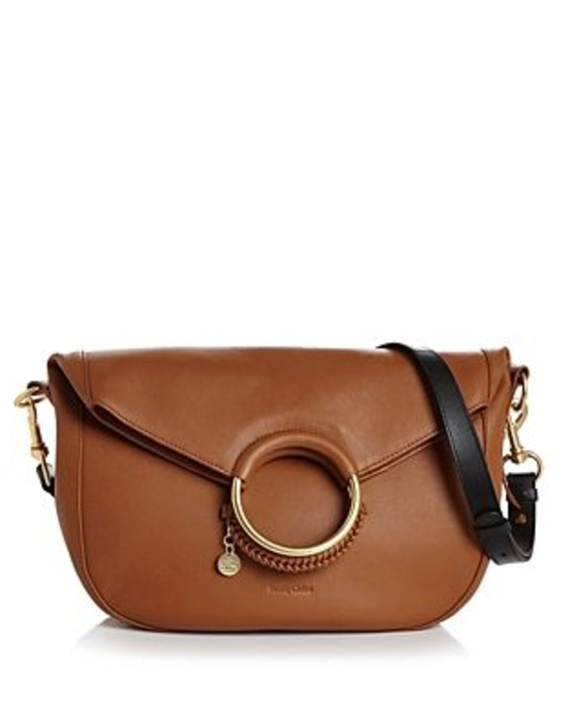 See By Chloe Monroe Large Ring Handle Leather Shoulder Bag