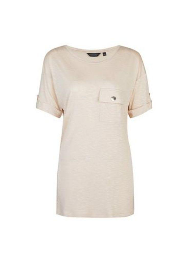 Womens **Tall Stone Pocket T-Shirt- White, White
