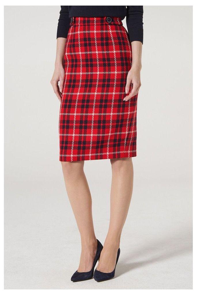 Womens L.K.Bennett Red Miroe Skirt -  Red
