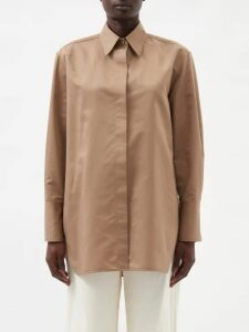 Alexander Mcqueen - Shell Print Pleated Gown - Womens - White Black