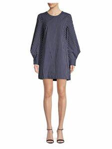 Striped Poplin Shift Dress