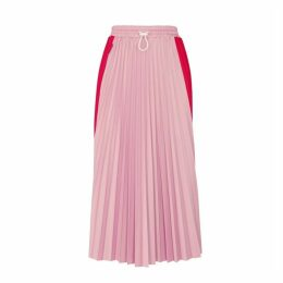 Moncler Two-tone Pleated Midi Skirt