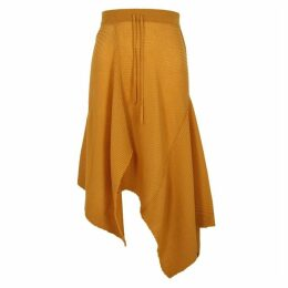 MARQUES' ALMEIDA Mustard Ribbed-knit Wool Skirt