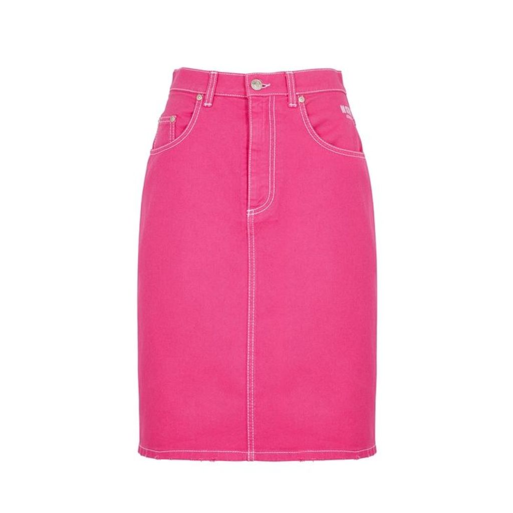 MSGM Pink Denim Skirt