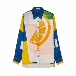 Beau Souci Charlotte Spritz Printed Silk Shirt