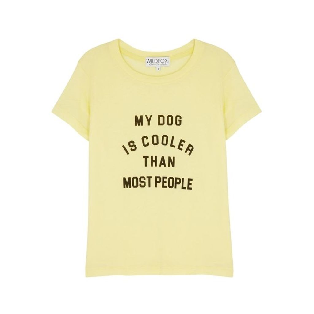 Wildfox Cool Dog Printed Jersey T-shirt