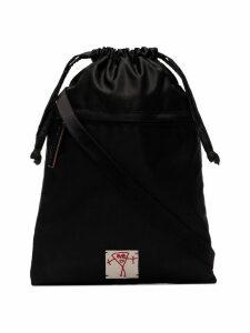 Plan C black drawstring pouch bag - Blue