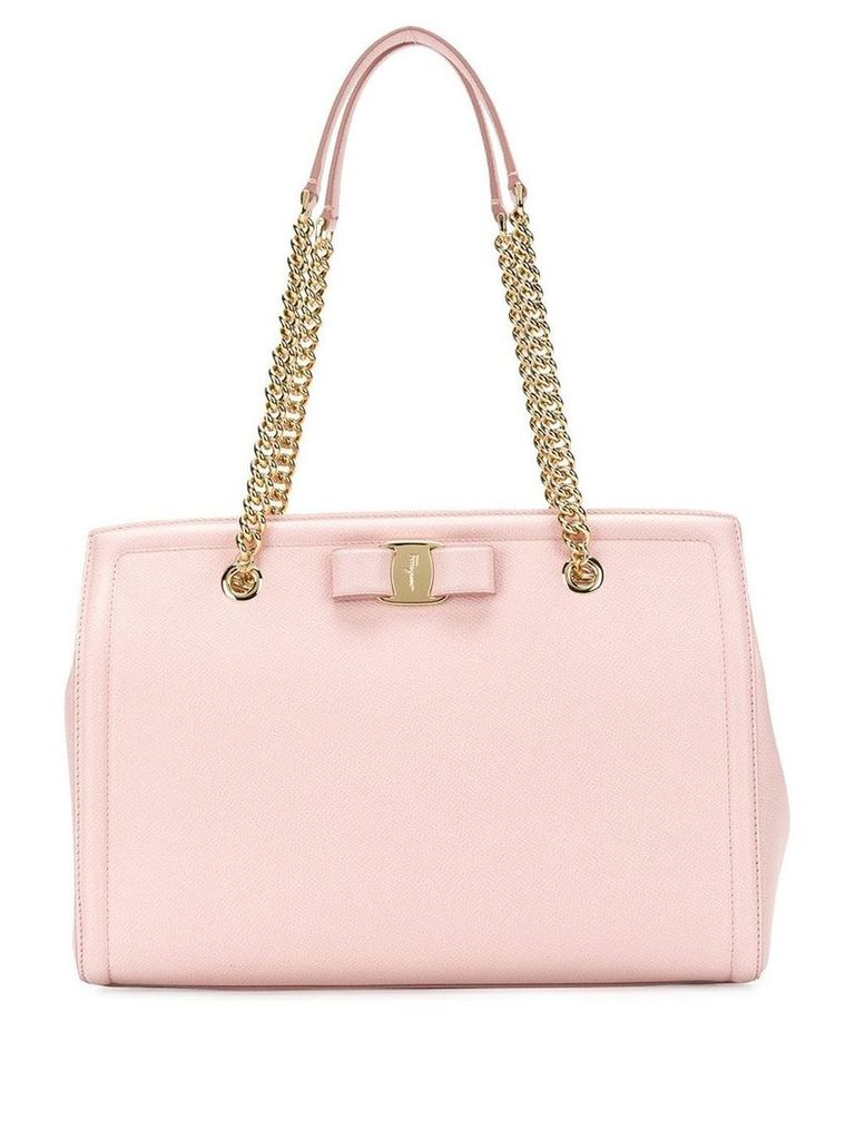 Salvatore Ferragamo Vara bow shopper bag - Pink