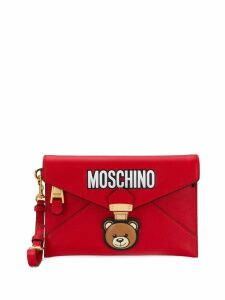 Moschino Teddy Bear envelope clutch - Red
