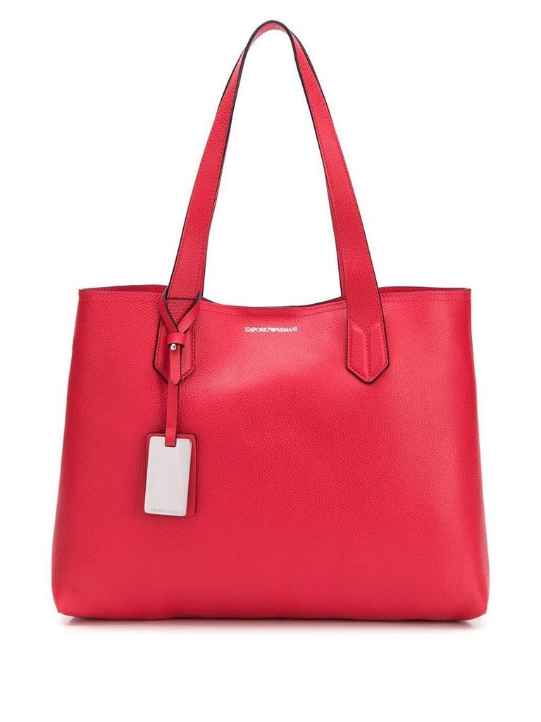 Emporio Armani shopping tote bag - Red