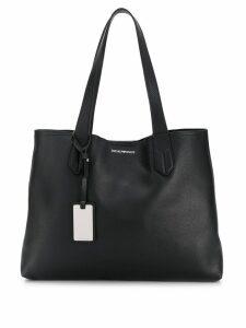 Emporio Armani shopping tote bag - Black