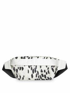 Burberry Medium Animal Print Nylon Bum Bag - White