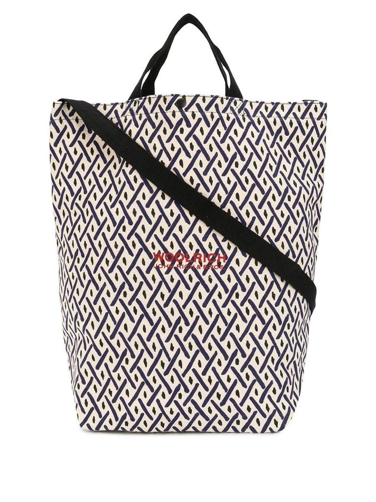 Woolrich large shopping tote bag - Neutrals