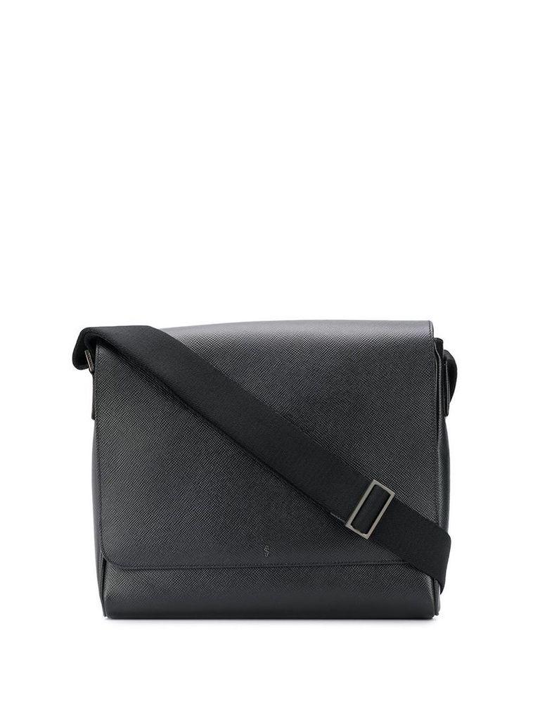 Serapian small flap messenger bag - Black