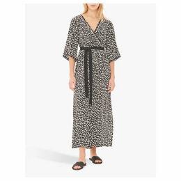 Gerard Darel Gloria Floral Kimono Maxi Dress, Black/White