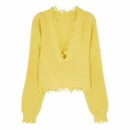 Wildfox Palmetto Yellow Chunky-knit Jumper
