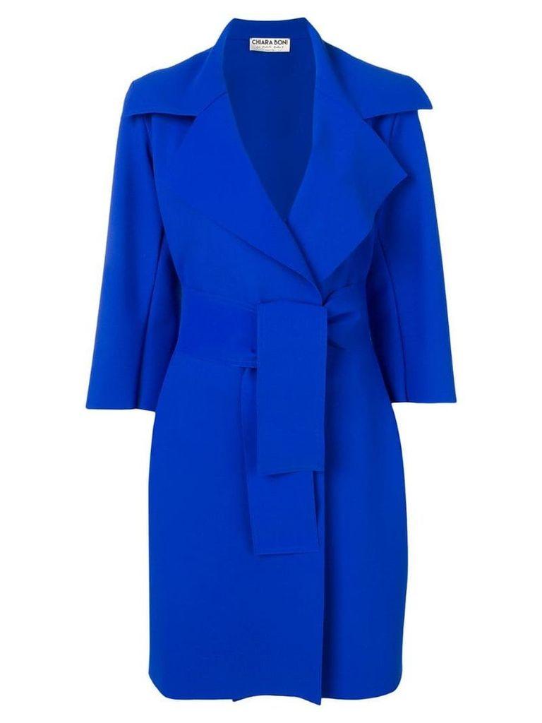 Le Petite Robe Di Chiara Boni belted coat - Blue