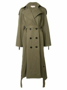 Ruban Khaki Trench Coat - Green