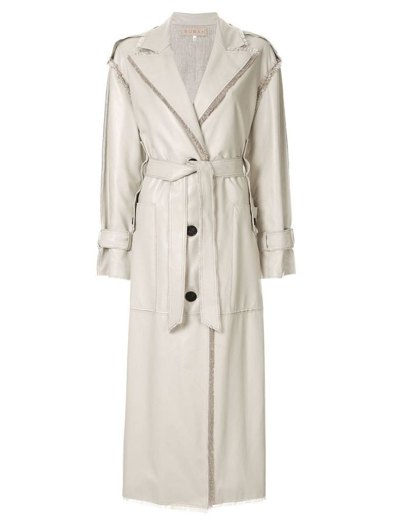 Ruban Cream Trench Coat - Neutrals