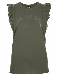 The Upside ruffle trim tank top - Green