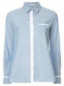 Guild Prime star print contrast shirt - Blue