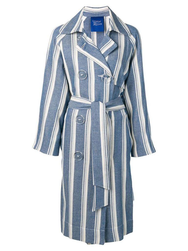 Simon Miller striped trench coat - Blue
