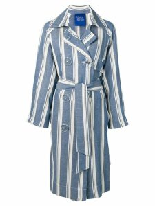 Simon Miller striped trench coat - Blue