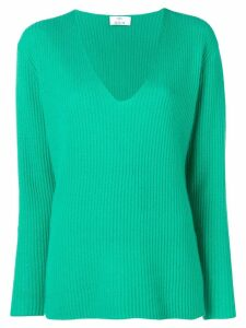 Allude ribbed jumper - Green
