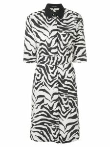 Luisa Cerano zebra print dress - White