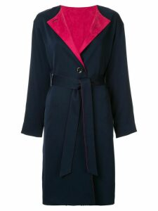 Guild Prime contrast belted trench coat - Blue