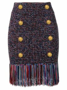 Balmain fringed skirt - Black