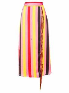 MSGM striped tassel skirt - Pink
