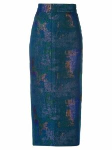 Rubin Singer gradient pencil skirt - Blue
