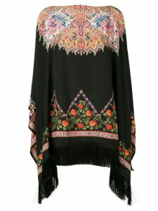 Etro patterned poncho top - Black