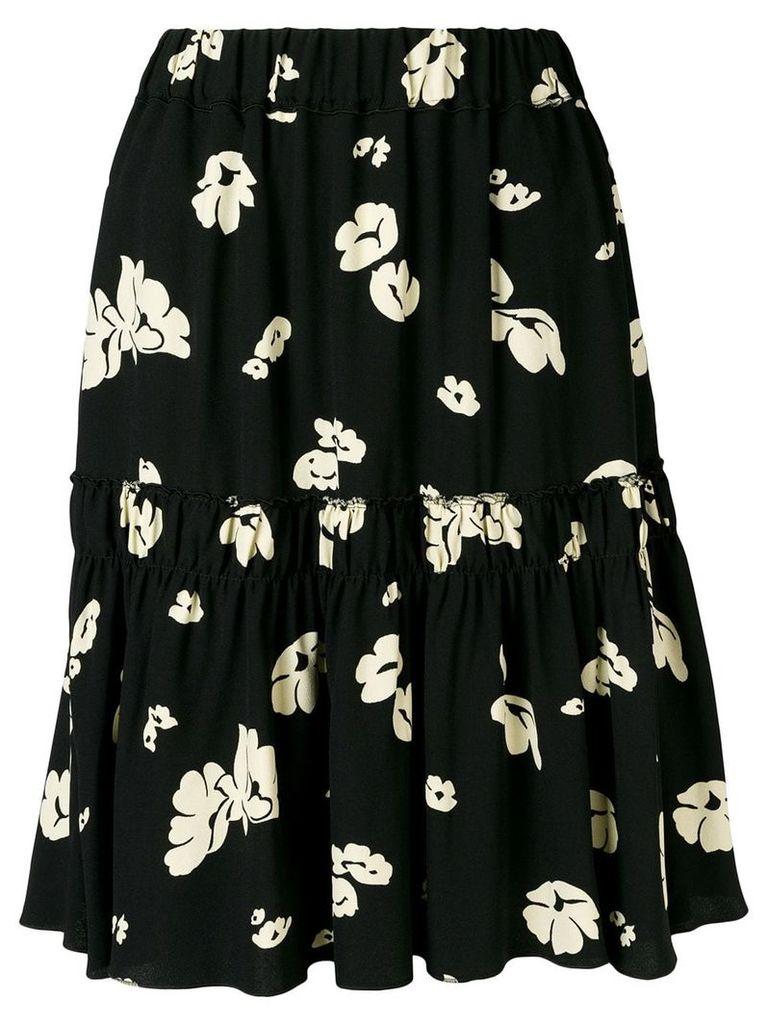 A.P.C. floral A-line skirt - Black