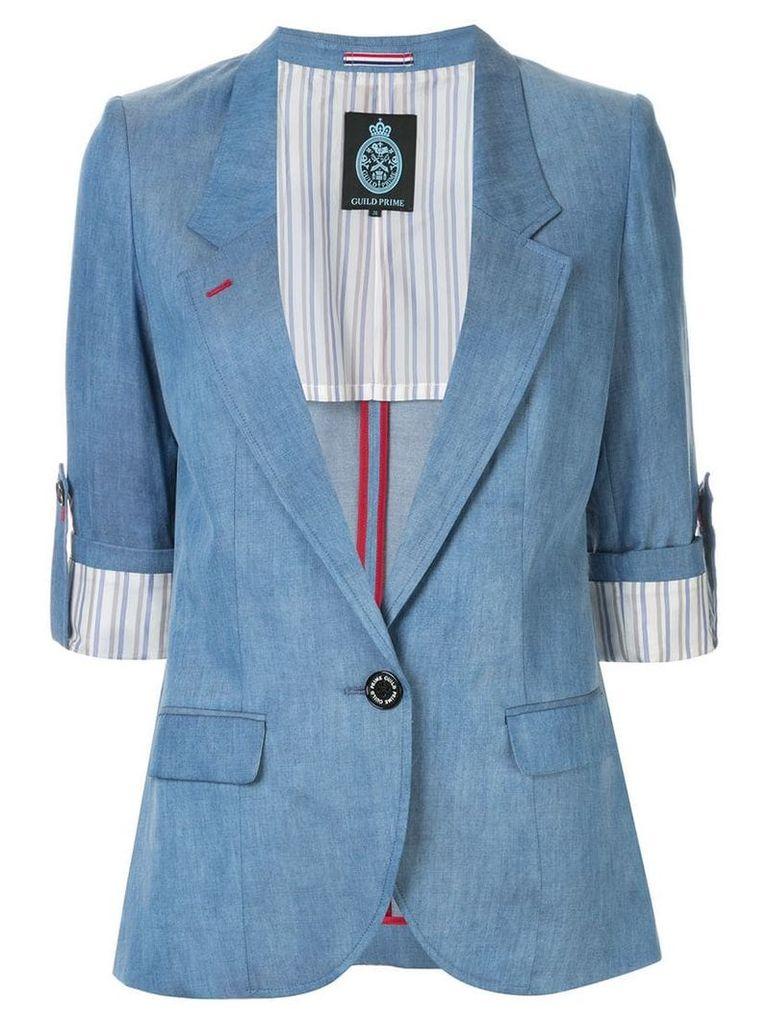 Guild Prime slim-fit short sleeve blazer - Blue