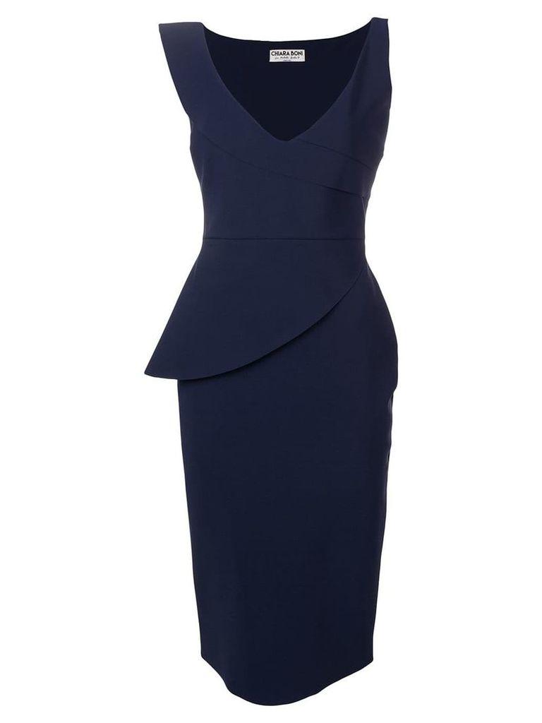Le Petite Robe Di Chiara Boni v-neck fitted dress - Blue