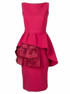 Le Petite Robe Di Chiara Boni fitted ruffled front dress - Pink