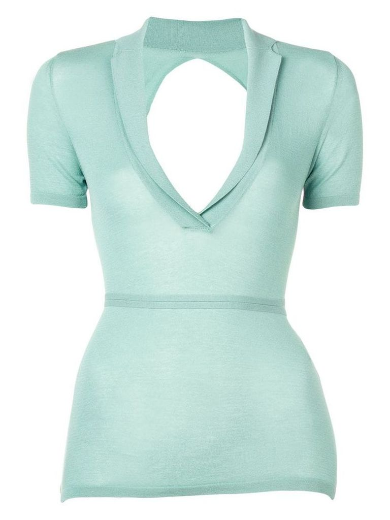 Jacquemus fine-knit top - Green
